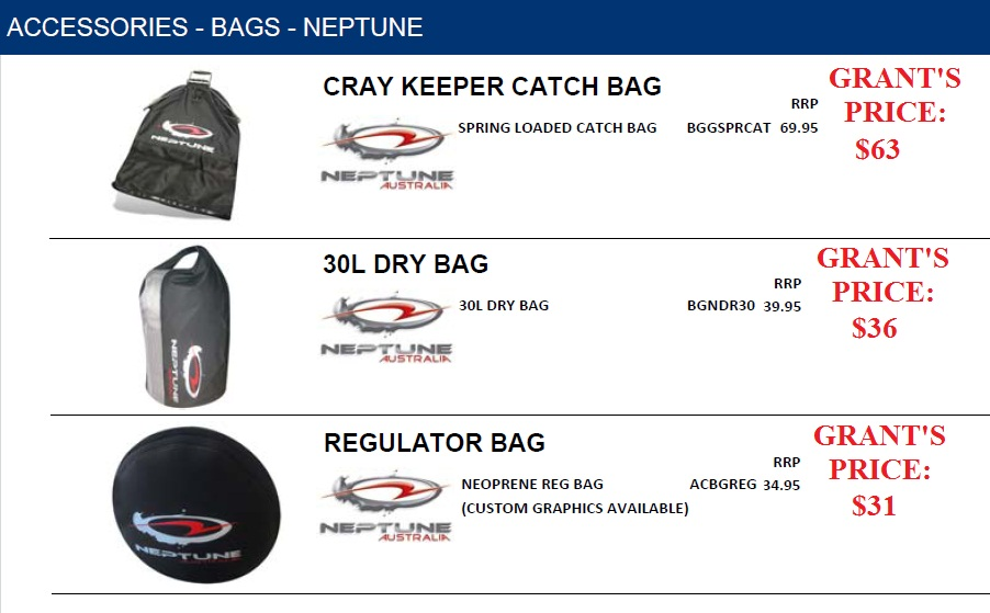 DRY BAGS, CATCH BAGS ANS REGULATOR BAGS