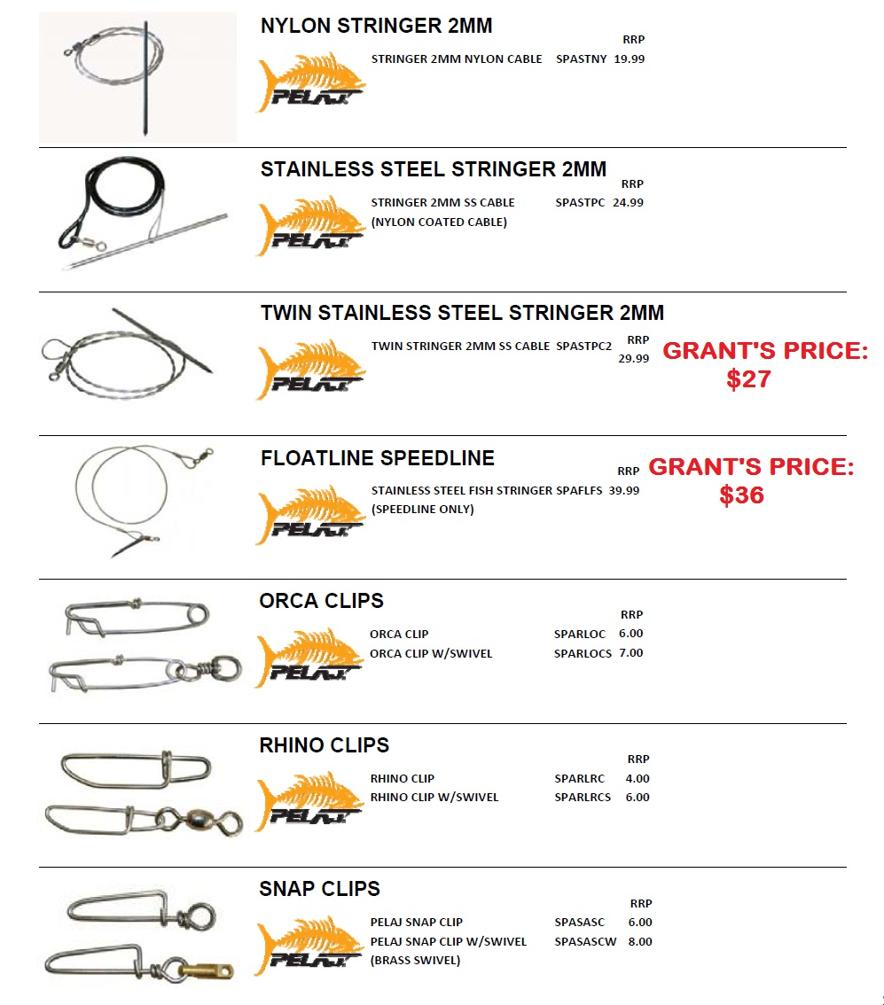 PELAJ SPEARFISHING ACCESSORIES