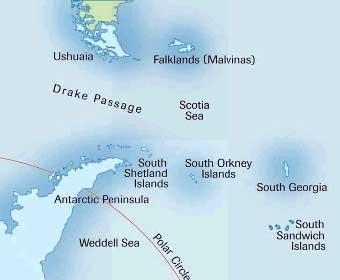 Antarctica Map Dive Location