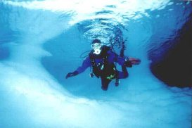 Diver Under The Ice