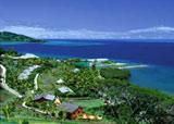 Wananavu Beach Resort Aerial View