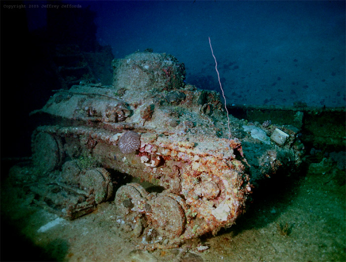 Nippon Tank - Many are to be Found on Wrecks in Truk